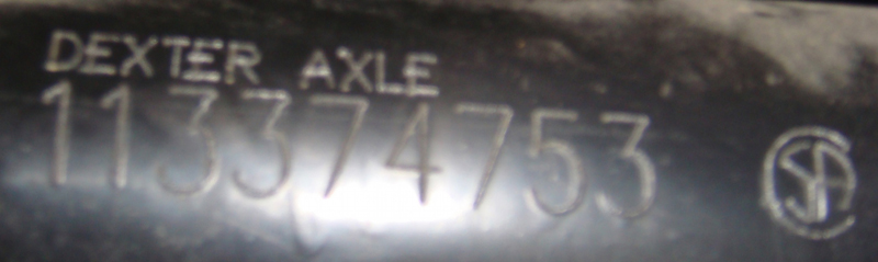 Old Axle Serial Number