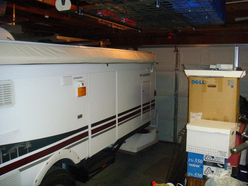 In the Garage - the Door Closed!