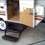"""New step was required, as the trailer body is now 4"""" above the original axle mount and the larger tires raised it another 4"""" or so."""