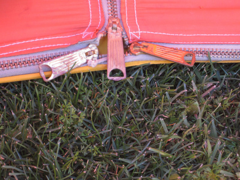 1960's REI A-Frame Tent Door Zippers