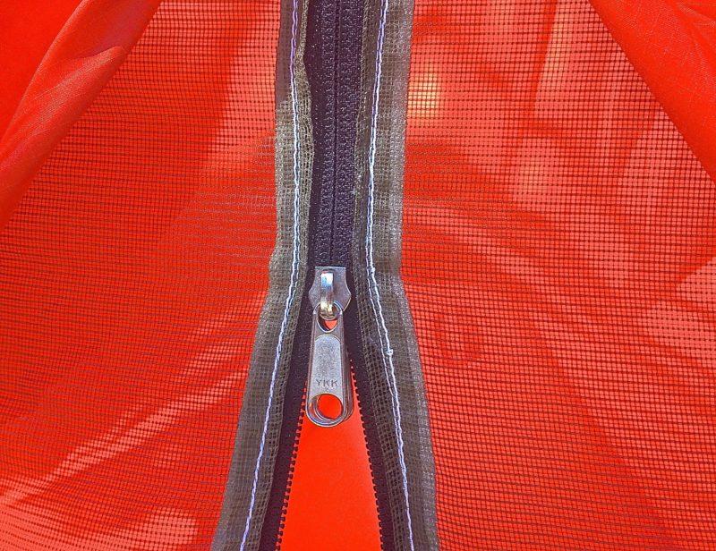 1960's REI A-frame Tent Mesh Zipper