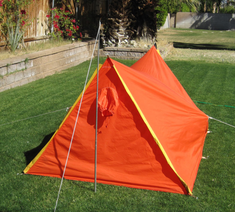 1960's REI A-frame Tent (rea view)