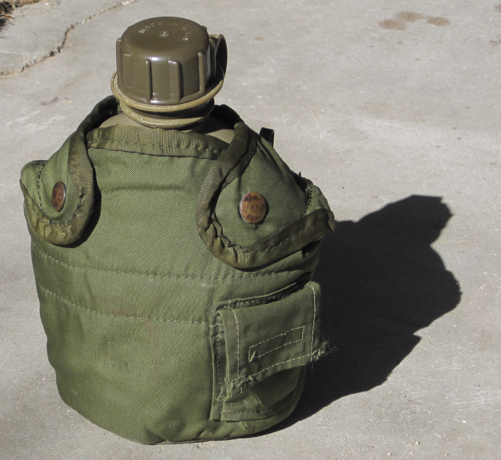 Plastic Military Canteen in Holder