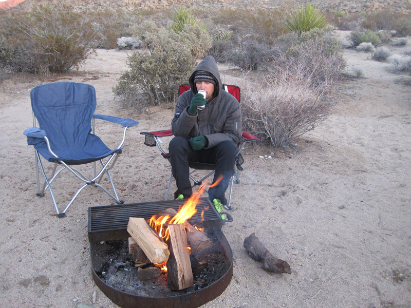 Joe at Campfire smaller