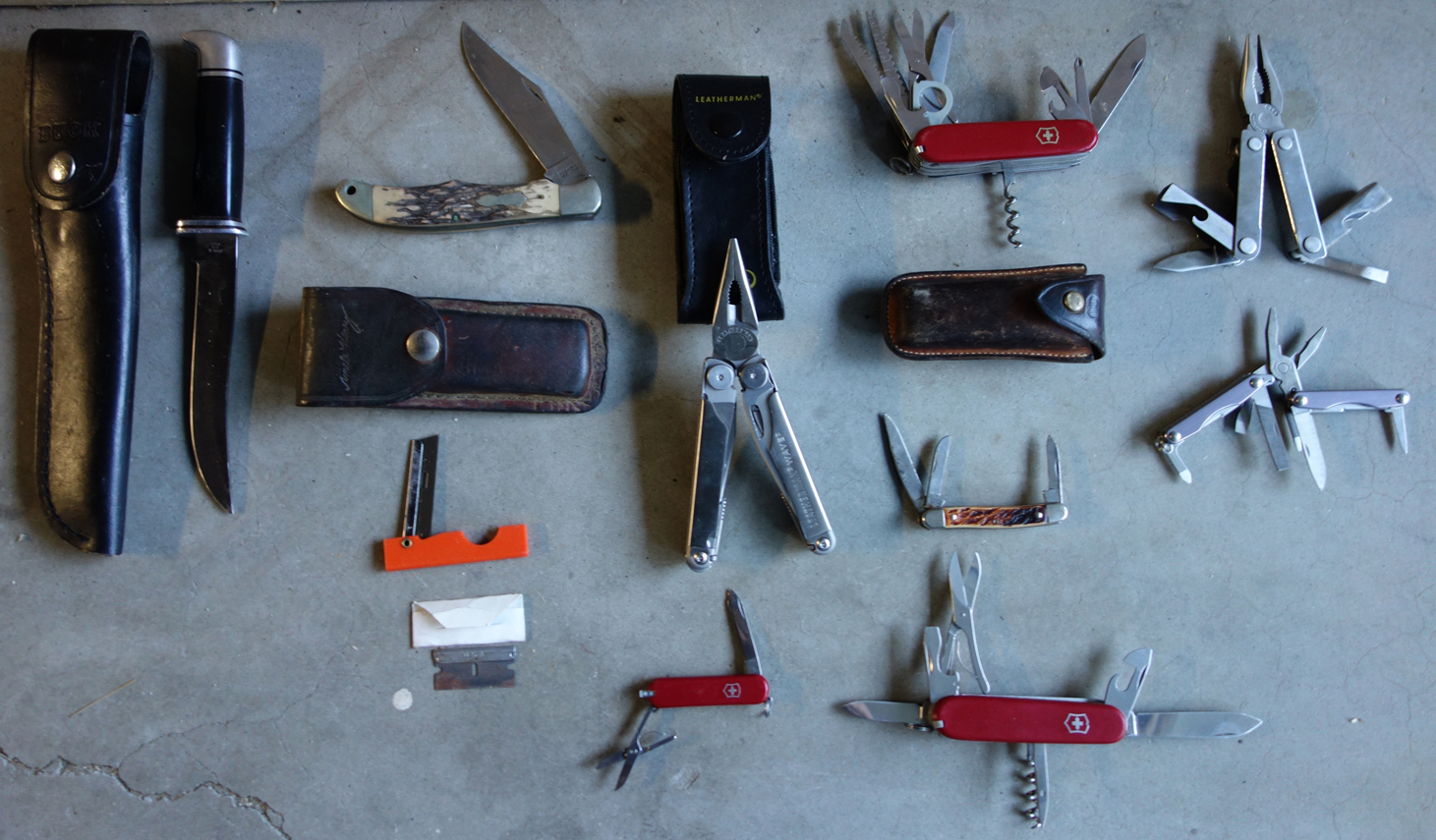 Knife collection smaller