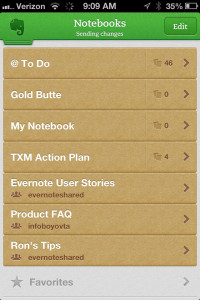 iPhone Evernote