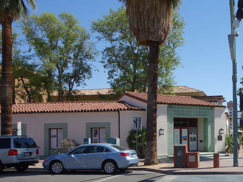 Palm Springs first public library, named after Welwood Murray.