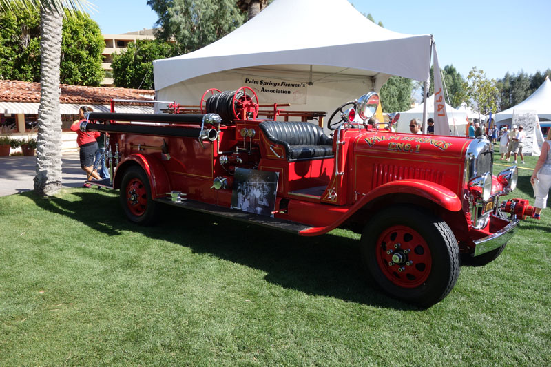 One of the exhibits - Palm Springs Fire Engine #1, an old La France. There are many antique cars on display too.
