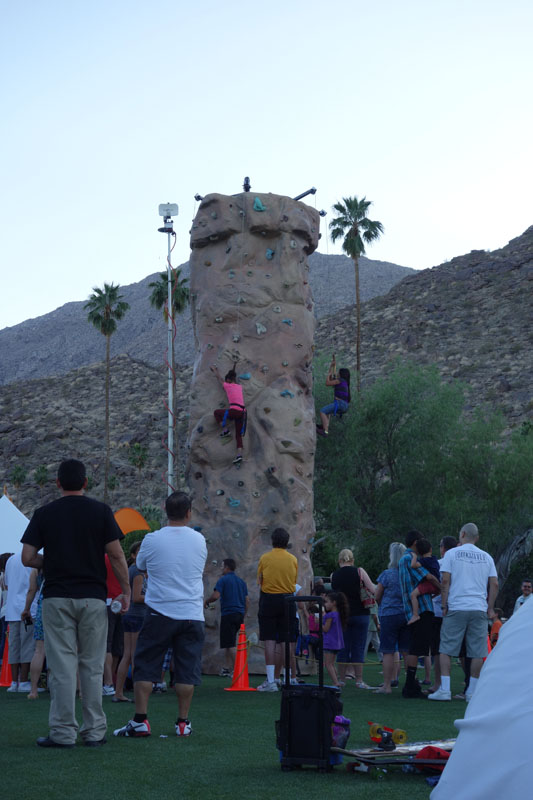 Had a lot of fun watching the little kids climb this rock wall. Most of them made it to the top.
