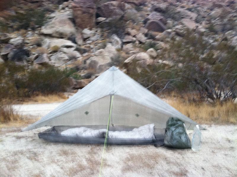 Enlightened Equipment Epiphany Cuben Quilt. zPacks Hexamid shelter, poncho/groundsheet, Zero backpack