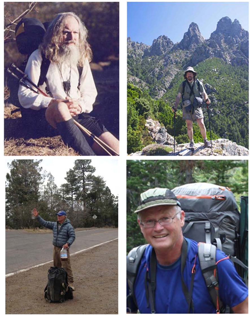 Pictures from their websites (left to right, top to bottom): Nimblewill Nomad, Chris Townsend, Tom Jamrog, Bob Shaver.