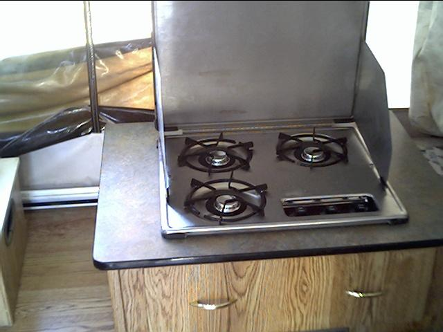Close up of stove.