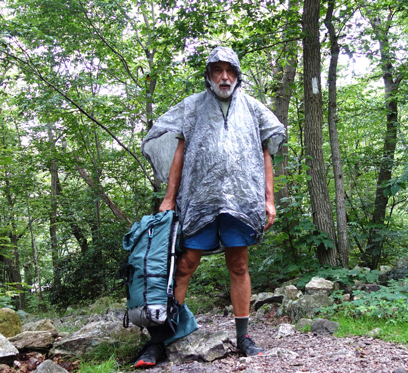 zPacks Poncho/Groundsheet on the Appalachian Trail.