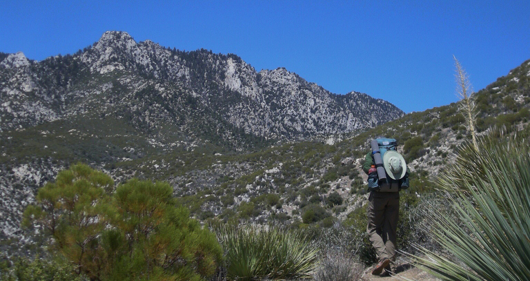 Here I am hiking up the Desert Skyline Trail. Picture by Craig Wisner.