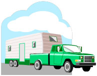 2013-12-16 Clip Art - Truck and Trailer