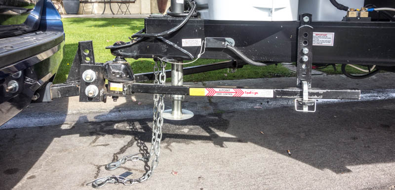 WD Hitch hooked up.