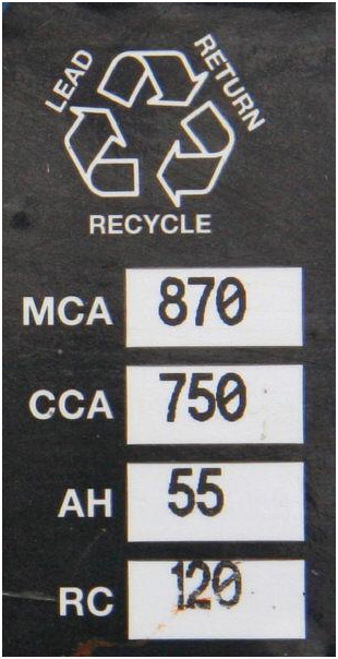 If the label includes MCA or RC it is probably an RV/Marine Deep Cycle (hybrid battery with thinner plates)