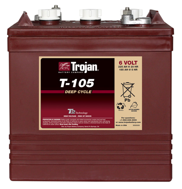 Trojan T-105 true deep cycle battery