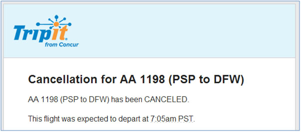 Cancelled Flight 01-04-2014