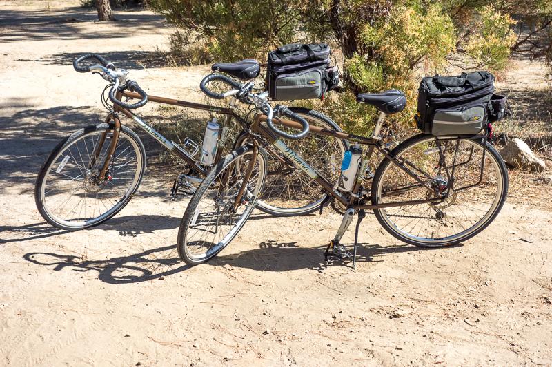A pair of Novara Safari Touring Bicycles from REI