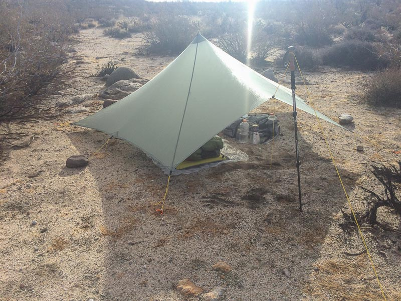The MLD Trailstar is large inside and this THE shelter for shedding wind