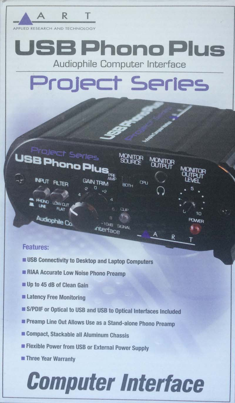 Applied Research & Development (ART) USB Phono Plus pre-amp