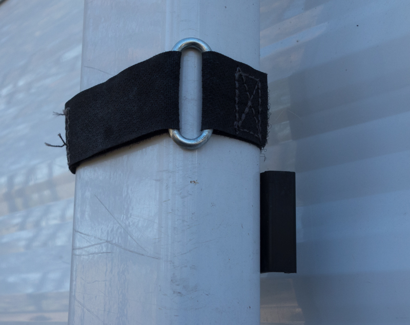 The awning won't come loose with this Velcro awning strap by Camco