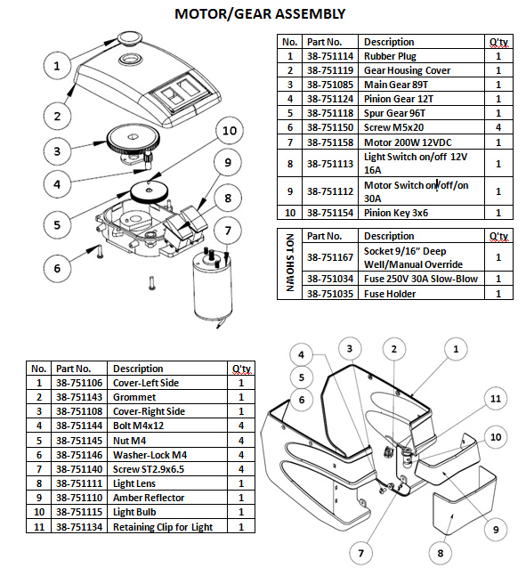 Ultra-Fab 4000 Parts List