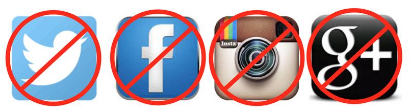 no social media for me