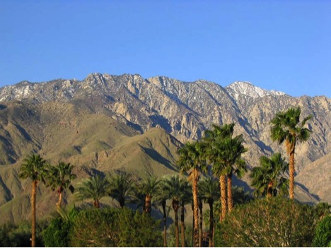 View of The San Jacinto Mountains from our front yard.