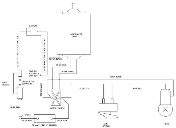 wiring diagram for Ulta-Fab 4000 Tongue Jack