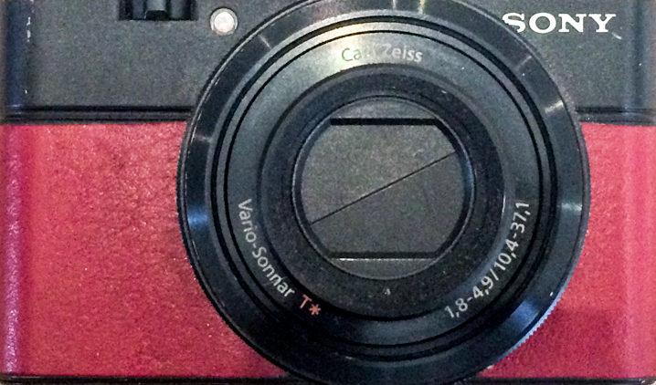 Sony RX100 with leather appliqués