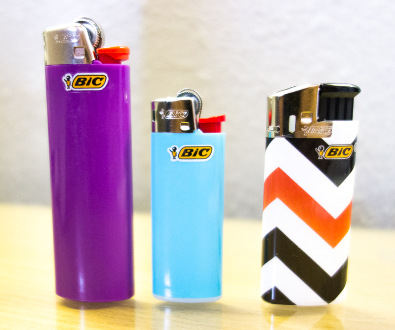 (Left to Right) BIC Classic, Mini, Mini Electronic