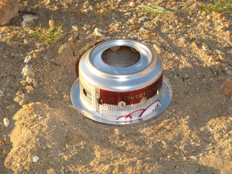 Soda car alcohol stove made by Trail Designs. It is pretty stable, unlike some home made stoves, especially the ones I see made out of cat food cans.