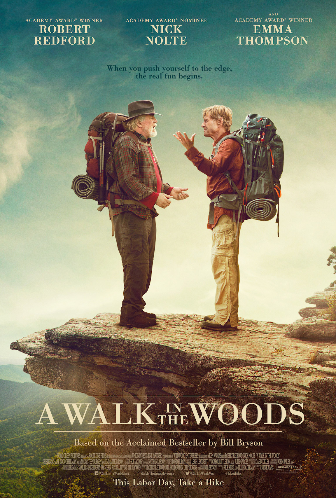 a walk in the woods movie poster