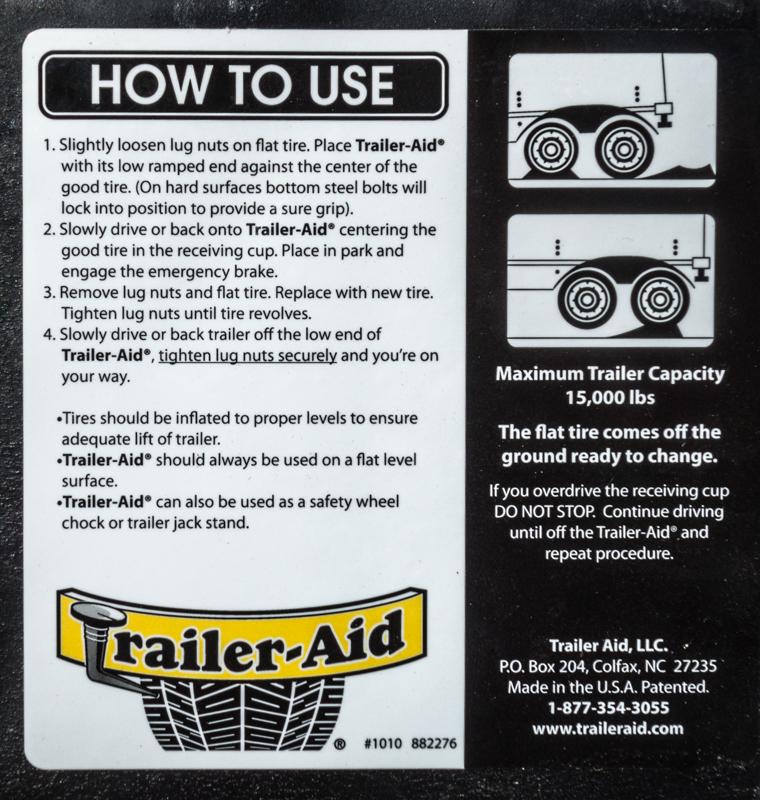 Camco Trailer Aid Plus Label